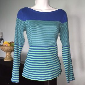 Sweaters - Ann Taylor stripped Long Sleeve Top